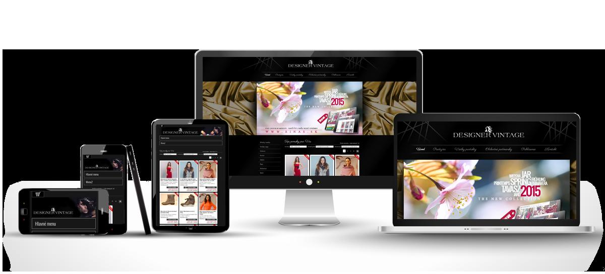 Responzívny dizajn stránky www.designervintage.sk