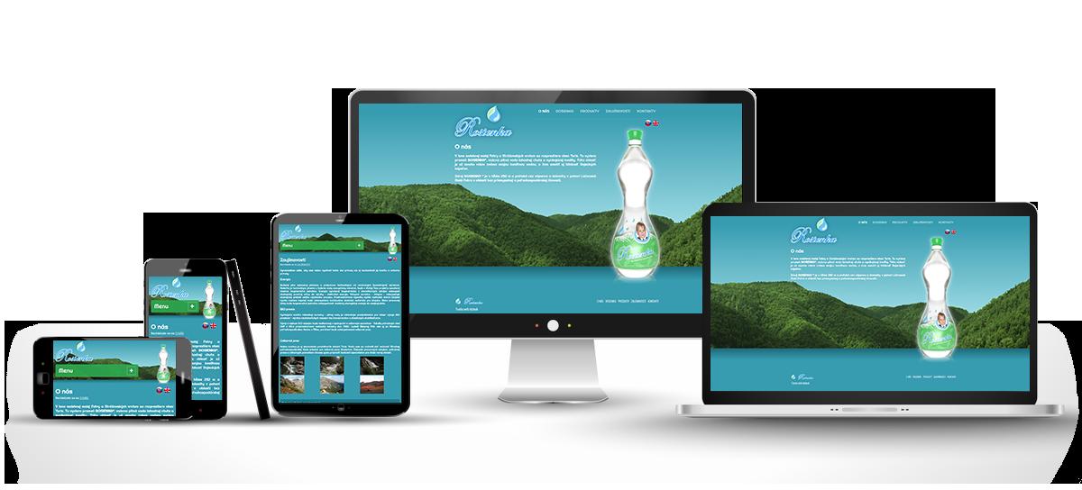 responzívny dizajn stránky vodarosienka