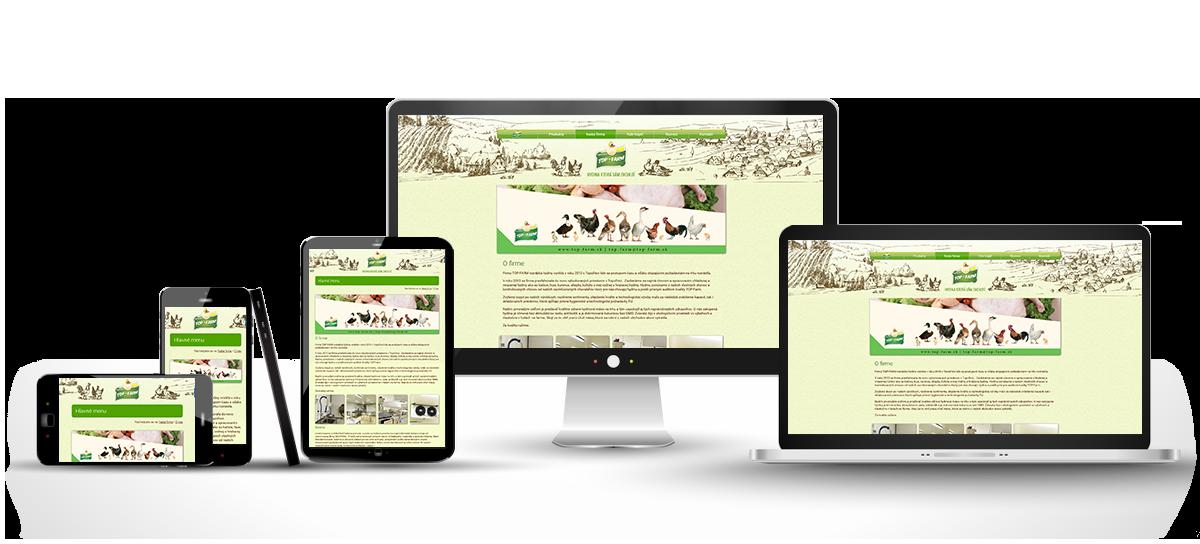 responzívny dizajn stránky Top-farm