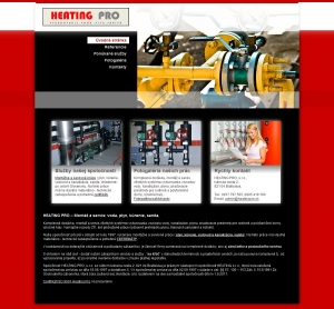 Web presentation for HEATING PRO, s.r.o.