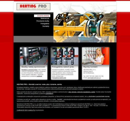 Webová prezentácia pre HEATING PRO, s.r.o.