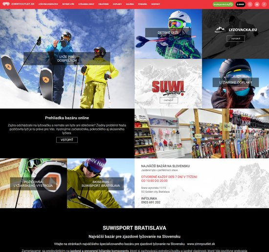 Webová prezentácia pre Zimný Outlet