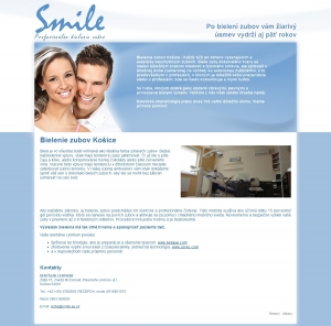 Web presentation for Dentálne centrum