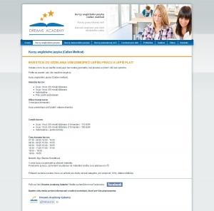 Webpräsentation für Dreams Academy