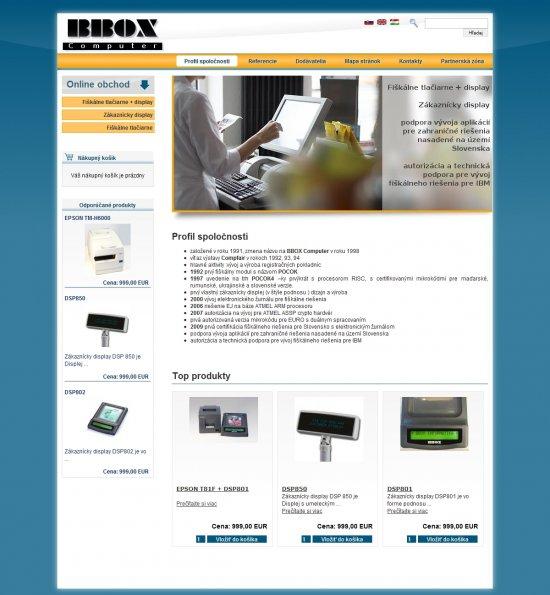 Internetový obchod pre BBOX Computer s.r.o.