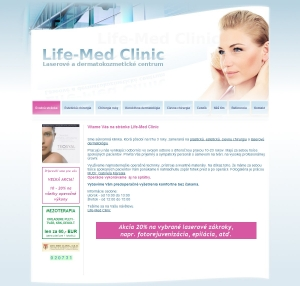 Web presentation for Life-Med Clinic, s.r.o.