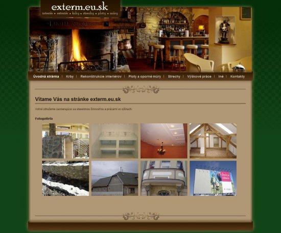 Webová prezentácia pre Exterm.eu.sk