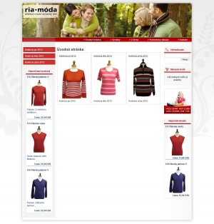 Online shop for RIA-Móda, spol. s r.o.