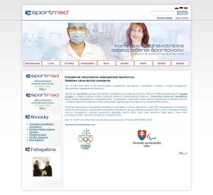 Webpräsentation für Sportmed, s.r.o.