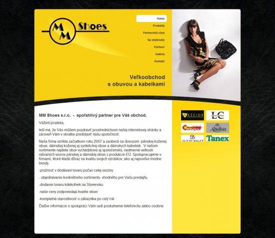 Webová prezentácia pre MM Shoes s.r.o.