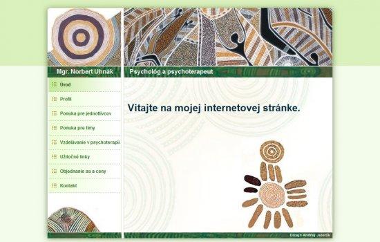 Webová prezentácia pre Mgr.Norberta Uhnáka
