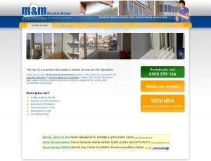 Webová prezentácia pre spoločnosť M&M