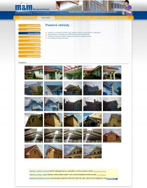 Webpräsentation für Firma M&M