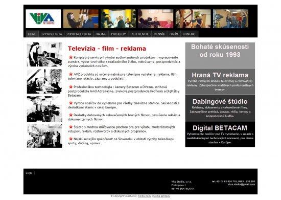 Webová prezentácia pre Viva Studio, s.r.o.