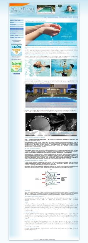 Web presentation Bio-Bazeny.sk