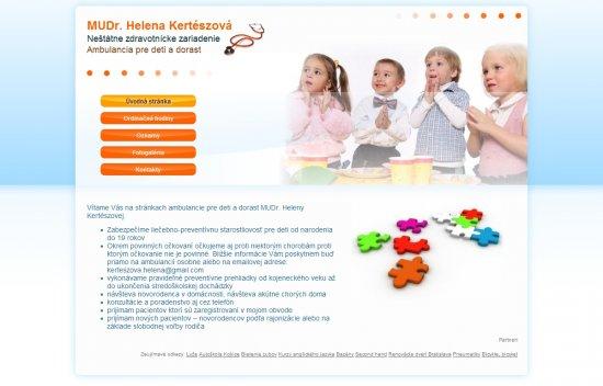 Webová prezentácia pre MUDr. Helenu Kertészovú