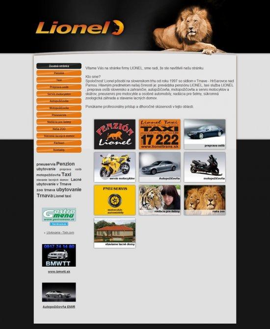 Webová prezentácia pre Lionel