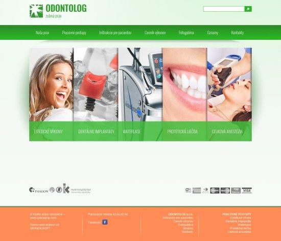 Webová prezentácia pre ODONTOLOG s.r.o.