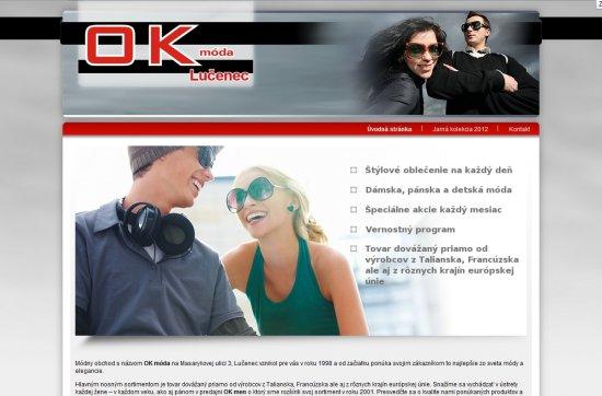 Webová prezentácia pre OK móda