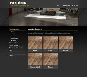 Webpräsentation für Parketárium