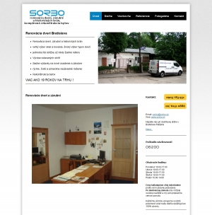 Web presentation for Sorbo