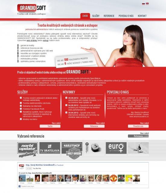 Webová prezentácia pre Grandiosoft