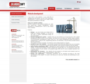 Web presentation for Grandiosoft