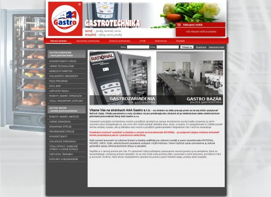 Internetový obchod pre AAA Gastro, s.r.o.
