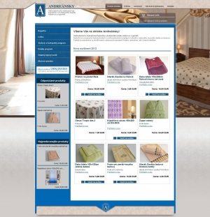 Online shop for the company Andreánsky
