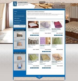 Internetgeschäft für Firma Andreánsky