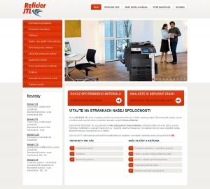 Web presentation for Reficier JTL s.r.o.