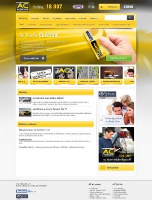 Web presentation for AC AutoClub