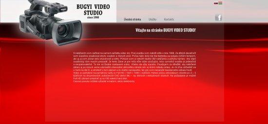 Webová prezentácia pre Bugyi Video