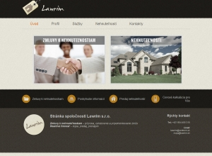 Web presentation for Lawrim s.r.o.