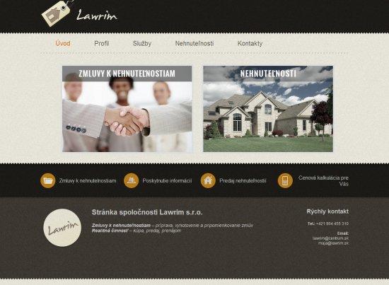 Webová prezentácia pre firmu Lawrim s.r.o.