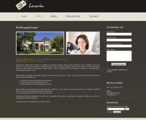 Webpräsentation für Lawrim GmBH