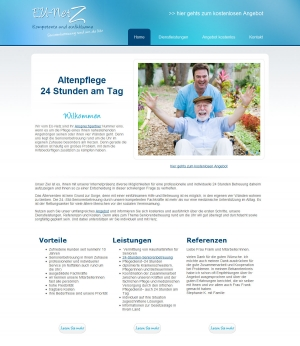 Webpräsentation für www.eu-netz.com