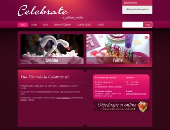 Online shop for the company Celebrate s.r.o.