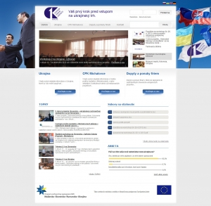 Web portal for CPK Michalovce