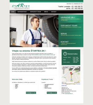 Web presentation for Štartex.sk