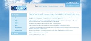 Online shop for ELEKTRO KLIMA RK, s.r.o.