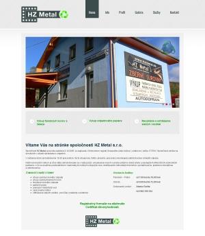 Web presentation for HZ Metal, s.r.o.