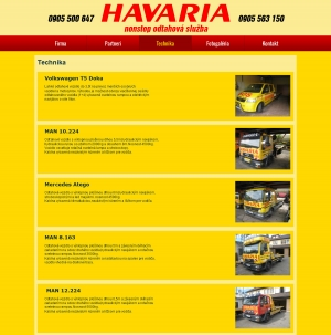Web presentation for SOS HAVARIA