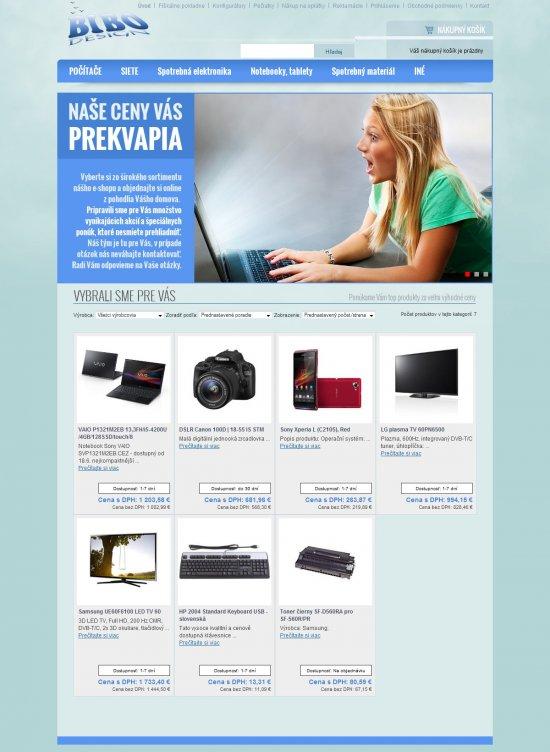 Internetový obchod pre BIBO Design