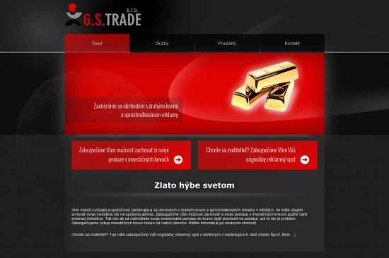 Webová prezentácia pre GS TRADE s.r.o.