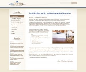 Webpräsentation für Liana Accounting, s. r. o.