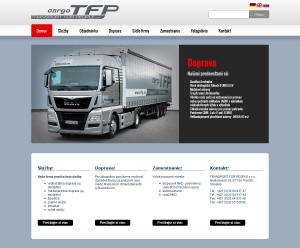 Web presentation for TFP Transport For People s.r.o.