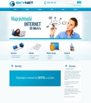 Web presentation for SkyNet Telecom s.r.o.
