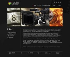 Web presentation for PrimeTime Productions s.r.o.