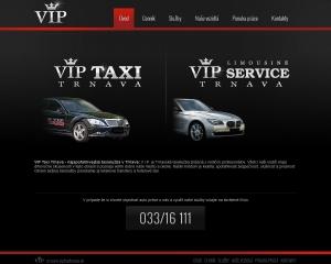 Web presentation for VIP Taxi Trnava